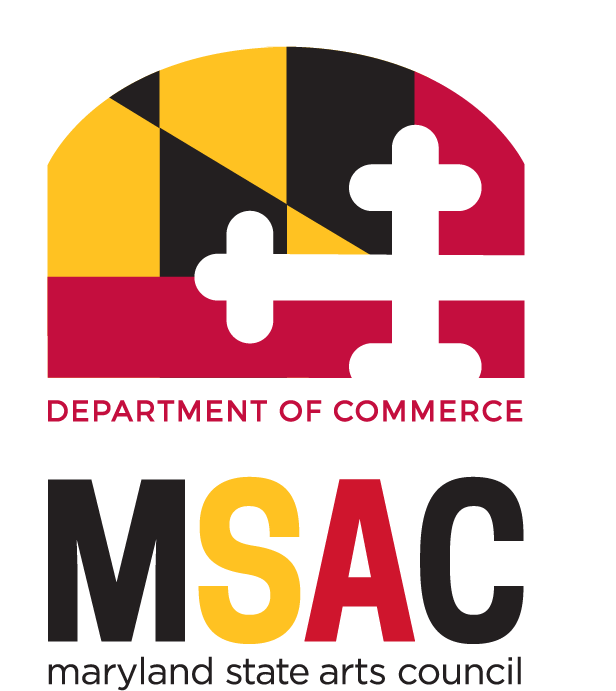 logo mark for Maryland State Arts Council. Graphic is portion of Maryland flag