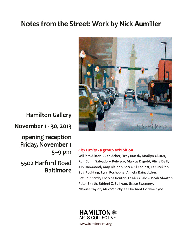 November at Hamilton Gallery - Notes from the Street: Nick Aumiller